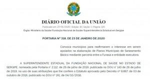 portaria_saneamento_sergipe